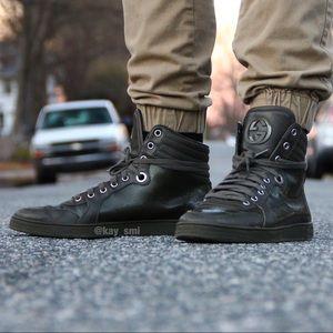 "GUCCI ""Coda"" High Top Logo Sneaker Army Green"